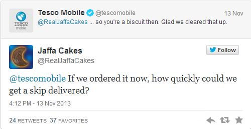 Tesco Mobile Twitter Conversation