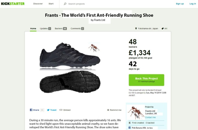 Frants - Ant-Friendly Running Shoes
